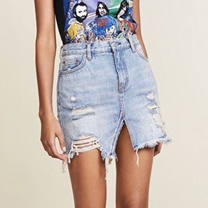 Free People Relaxed and Destroyed Skirt NWT!